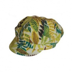 Cotton Lined Multicolour Newsboy Hat (Green)