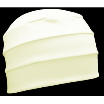 Cream 3 Seam Hat/Turban In 100% Cotton Jersey