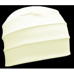 Cream 3 Seam Hat/Turban In 100% Cotton Jersey