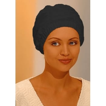 Deluxe Black Shower Cap By Fashy