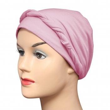 Dusky Pink Lightweight 100% Cotton Jersey Tie Scarf