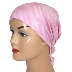 Easy Tie Bandana Pink Tie Dye 100% Cotton Jersey