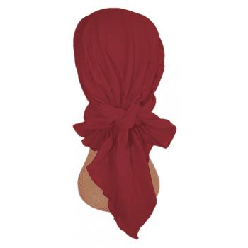 Easy Tie Bandana Vino Red 100% Cotton Jersey