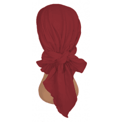 Easy Tie Bandana Vino Red 100% Cotton Jersey