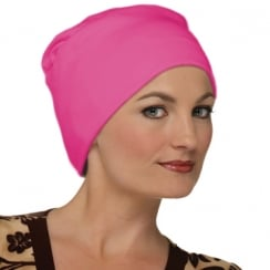 Elegant Fuschia Turban Hat 100% Cotton Jersey