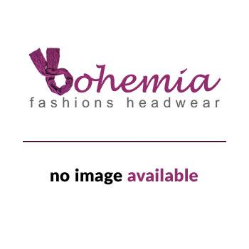 Elegant White Turban Hat With A Red Stripe Twist Wrap