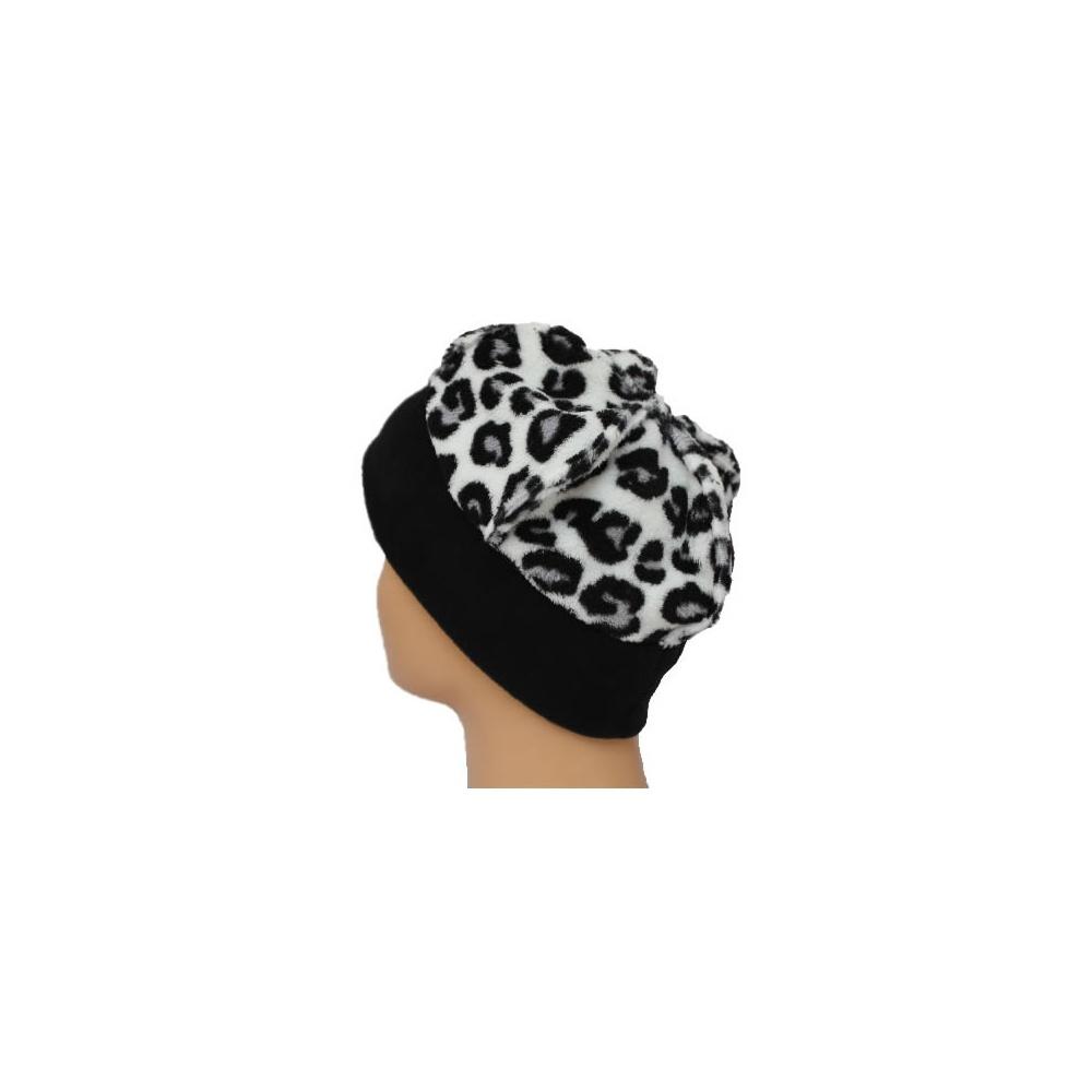 25bdd9e8b6b02d ... Fleece Hat Black/White Animal Print. ‹ View All Bohemia Headwear; ‹ ...