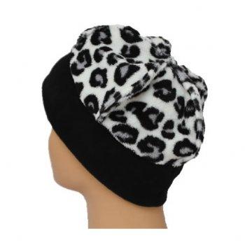 7abc67a6f5aa47 Fleece Hat Black/White Animal Print - Bohemia Headwear from Bohemia Headwear  UK