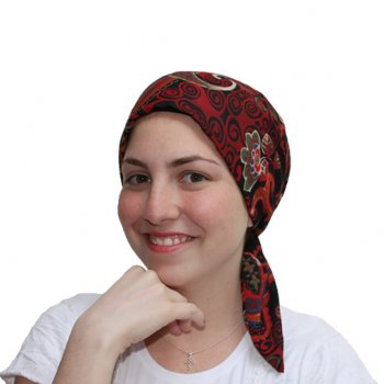 Floriana Padded Chiffon Head Tie Scarf (Burgundy, Blue, Green, Black)