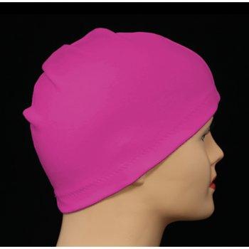 Fuschia 100% Cotton Jersey Head Cap