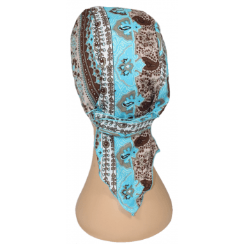 Greek Blue Deluxe No Tie Bandana