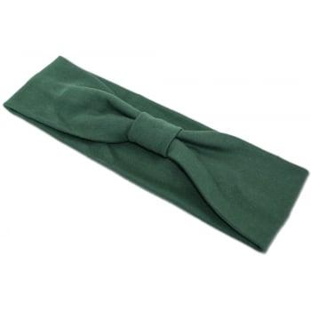 Green Cosy Headband 100% Cotton Jersey