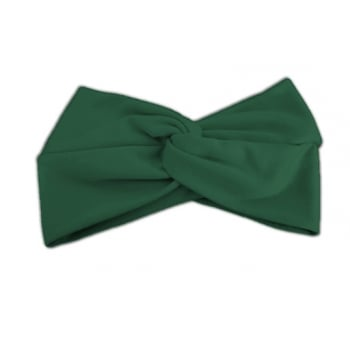Green Cotton Jersey Twist Wrap