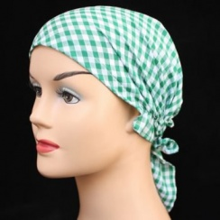 Green Gingham Petite Easy Tie Bandana