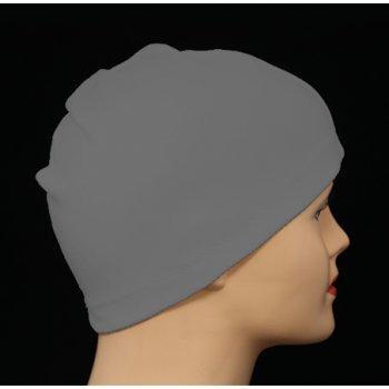 Grey 100% Cotton Jersey Head Cap