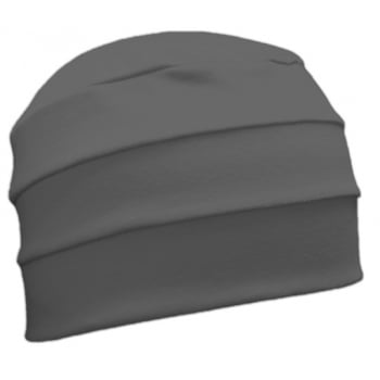 Grey 3 Seam Hat/Turban In 100% Cotton Jersey