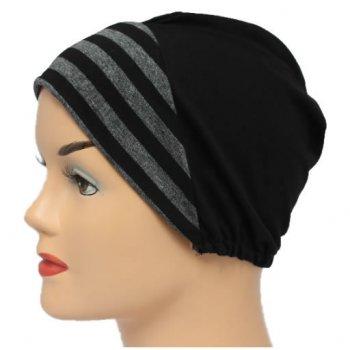 Grey/Black Stripes With Black Light Jersey Cap