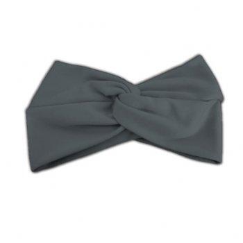 Grey Cotton Jersey Twist Wrap