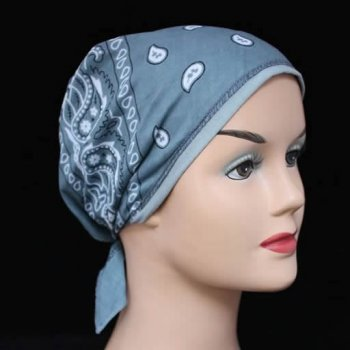 Grey Jersey Cap Bandana 100% Cotton