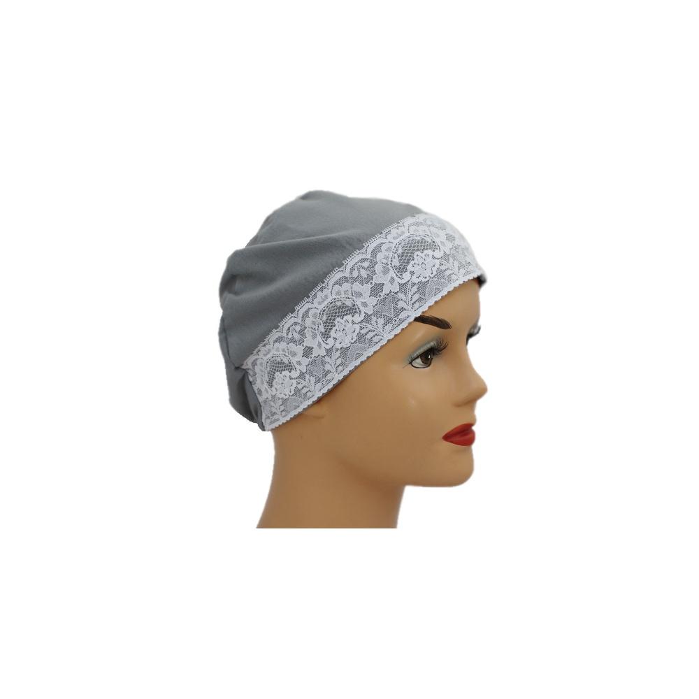 3ffb700f6b8 Grey Lace Sleep Cap Lightweight 100% Cotton Jersey - Bohemia ...