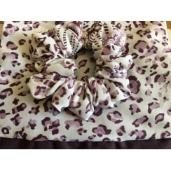 Jersey Cap Chiffon Scarf In Shades of Plum