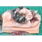 Jersey Cap Soft Cotton Scarf Peach Floral