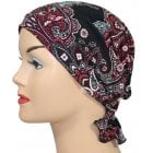Katie Scarf Floral Paisley on Black