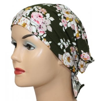 Katie Scarf in Floral Green