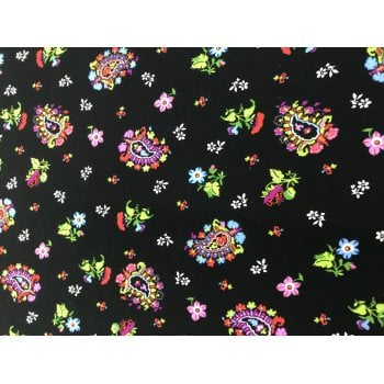 Katie Scarf in Floral on Black