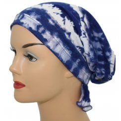 Katie Scarf in Royal Blue Tie Dye