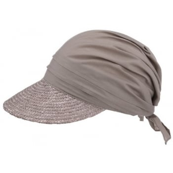 Khaki Straw Visor Hat By Seeberger