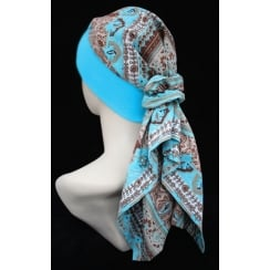 Lara Band Scarf Greek Blue