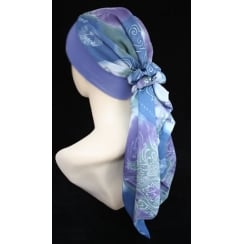 Lara Band Scarf Lilac Dream (Grey Blue And Green)
