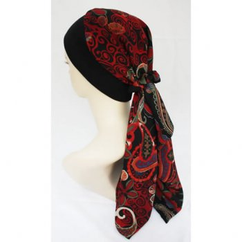 Lara Band Scarf Multicoloured (Burgundy, Blue, Green, Black)