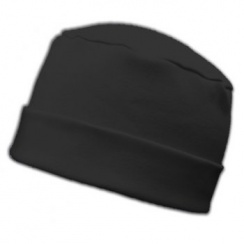 Large Cosy Hat Black 100% Cotton Jersey