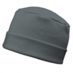 Large Cosy Hat In Grey 100% Cotton Jersey