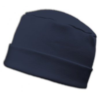 Large Cosy Hat In Navy 100% Cotton Jersey