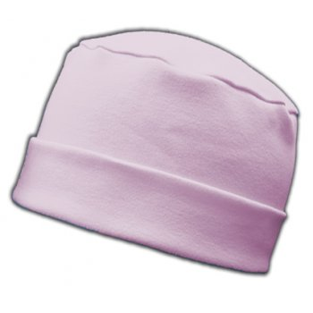 Large Cosy Hat In Pink 100% Cotton Jersey