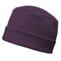 Large Cosy Hat In Plum 100% Cotton Jersey