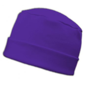 Large Cosy Hat In Purple 100% Cotton Jersey
