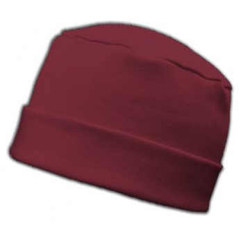 Large Cosy Hat In Vino Red 100% Cotton Jersey