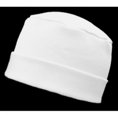 Large Cosy Hat In White 100% Cotton Jersey