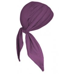 3 Seams Padded Bandana In Plum Lightweight 100% Cotton Jersey