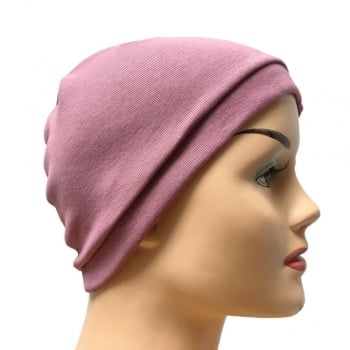 Light Maroon 100% Cotton Jersey Head Cap