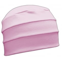 Light Pink 3 Seam Hat/Turban In 100% Cotton Jersey