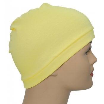 Light Yellow 100% Cotton Jersey Head Cap