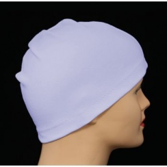 Lilac 100% Cotton Jersey Head Cap