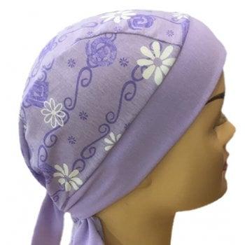 Lilac Daisies Bandana Cotton Jersey