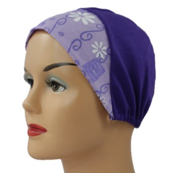 Lilac Daisy With Purple Light Jersey Cap