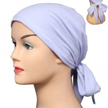 Lilac Lightweight 100% Cotton Jersey Tie Scarf